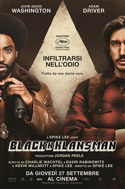 Blackkklansman di Spike Laee - locandina